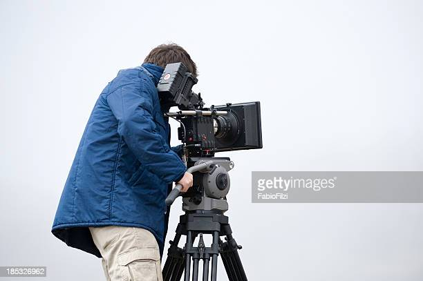 professional video cameraman - cinematographer stock pictures, royalty-free photos & images