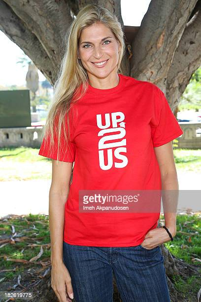 Professional volleyball player Gabrielle Reece attends 'Creating Change Through Sports' hosted by Up2Us on October 1 2013 in Los Angeles California...