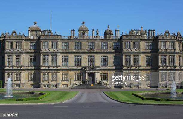 Professional window cleaners Nick Walker and Daniel Barr clean the windows at the front of Longleat House ahead of the summer season on June 2 2009...