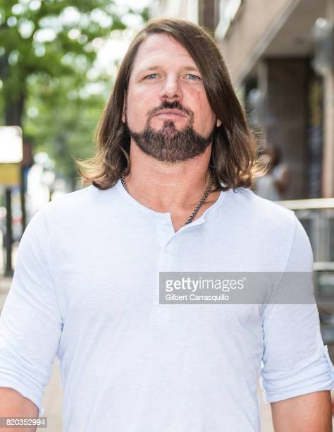 Professional wrestler A.J. Styles visits Fox 29's 'Good Day' at FOX 29 Studio on July 21, 2017 in Philadelphia, Pennsylvania.
