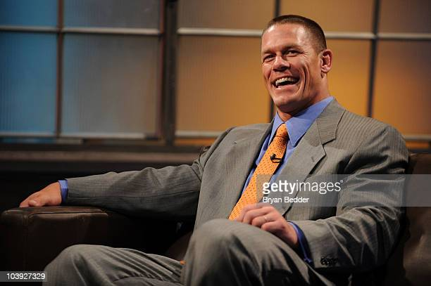 Professional wrestler and actor John Cena appears on Fuse TV's 'Top 20 Countdown' at the Fuse Studios on September 8 2010 in New York City