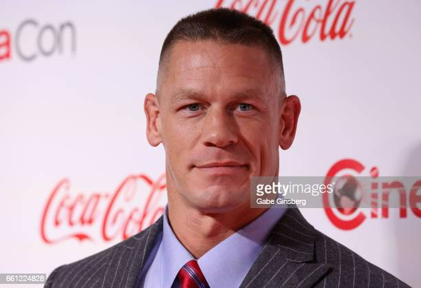 Professional wrestler and actor John Cena recipient of the Action Star of the Year Award attends the CinemaCon Big Screen Achievement Awards at Omnia...