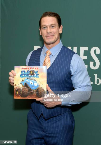 "Professional wrestler and author John Cena attends a signing event for his new children's book ""Elbow Grease"" at Barnes & Noble at The Grove on..."