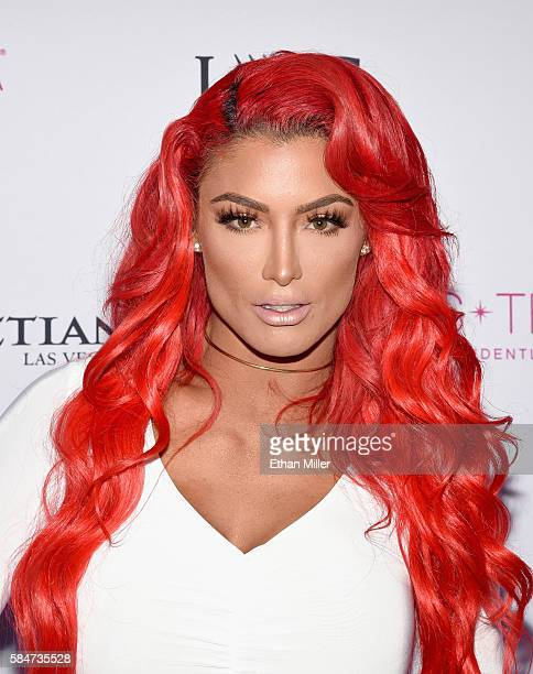 Professional wrestler and pageant judge Eva Marie attends the 2016 Miss Teen USA Competition at The Venetian Las Vegas on July 30 2016 in Las Vegas...