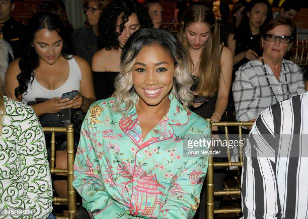 Professional wrestler Ariane Andrew attends New York Fashion Week NYFW Art Hearts Fashion at The Angel Orensanz Foundation on September 10 2017 in...