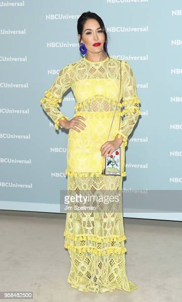 Professional wrestler Brie Bella attends the 2018 NBCUniversal Upfront presentation at Rockefeller Center on May 14 2018 in New York City