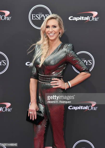 Professional wrestler Charlotte Flair attends The 2018 ESPYS at Microsoft Theater on July 18 2018 in Los Angeles California