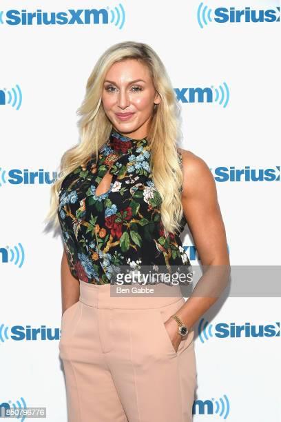 Professional wrestler Charlotte Flair visits at SiriusXM Studios on September 21 2017 in New York City