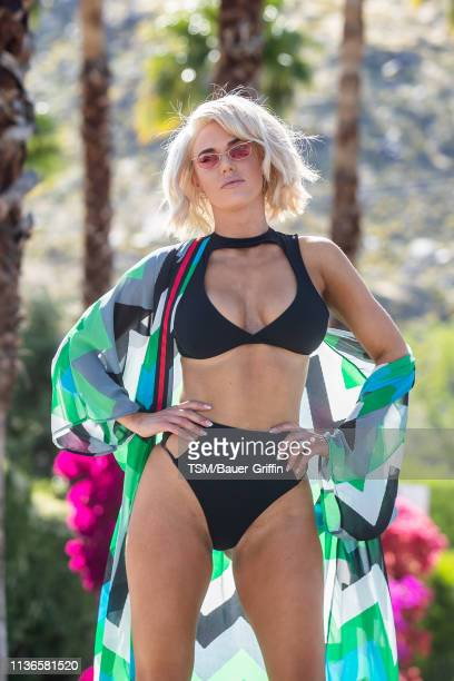 Professional wrestler CJ 'Lana' Perry is seen on April 12 2019 in Indio California