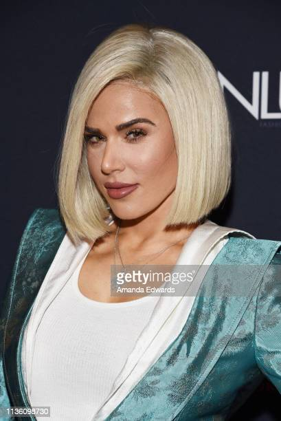 Professional wrestler CJ Perry arrives at the GENLUX Issue Release Party hosted by Kristin Cavallari and Carly Steel on March 15 2019 in Beverly...
