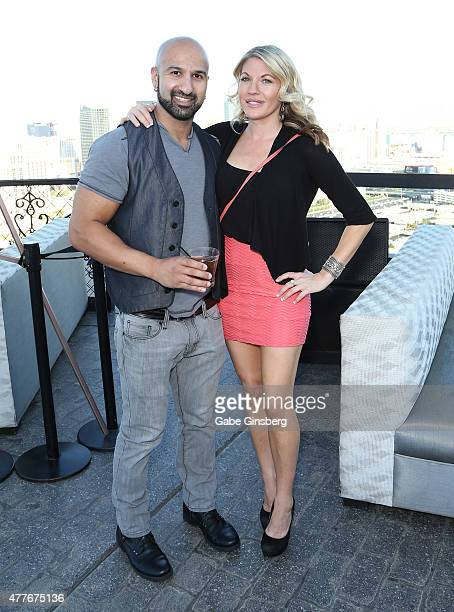 Professional wrestler Dara Daivari and professional wrestling personality Alicia Webb attend One Step Closer Foundation's event at the VooDoo Zip...