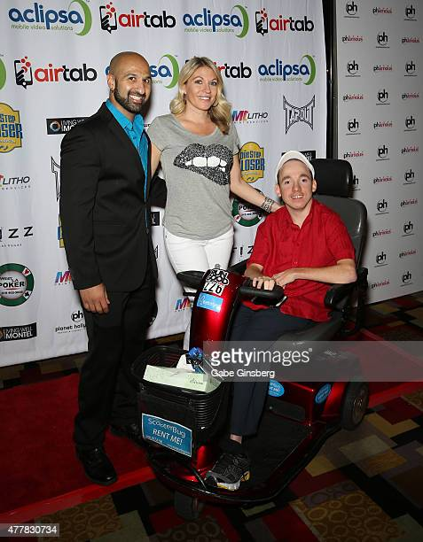 Professional wrestler Dara Daivari professional wrestling personality Alicia Webb and One Step Closer Foundation founder Jacob Zalewski attend the...