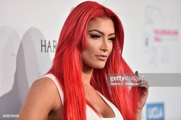 Professional wrestler Eva Marie attends the Kaleidoscope Ball at 3LABS on May 21 2016 in Culver City California