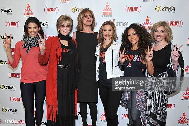 Professional wrestler Eve Torres actress Jane Fonda actress Christine Lahti actress KaDee Strickland Zumba celebrity instructor Gina Grant and Carole...