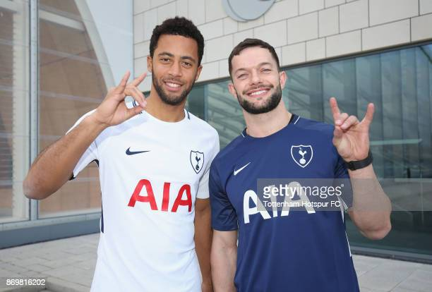 Professional wrestler Finn Bálor meets Mousa Dembele of Tottenham at Tottenham Hotspur Training Centre on November 3 2017 in Enfield England