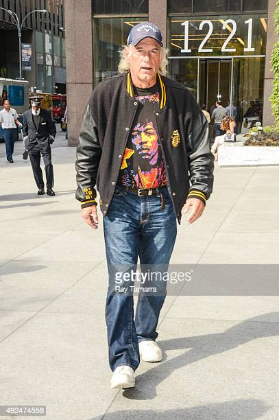 Professional wrestler Jesse Ventura leaves the Sirius XM Studios on October 13 2015 in New York City