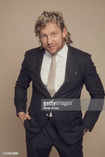 Professional wrestler Kenny Omega of TNT's 'All Elite Wrestling' poses for a portrait during the 2019 Summer TCA Portrait Studio at The Beverly...
