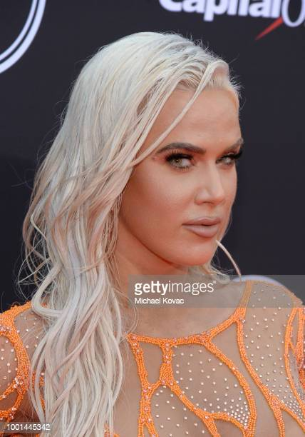 Professional wrestler Lana attends the 2018 ESPY Awards Red Carpet Show Live Celebrates With Moet Chandon at Microsoft Theater on July 18 2018 in Los...