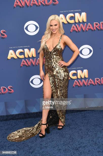 Professional wrestler Lana attends the 53rd Academy of Country Music Awards at the MGM Grand Garden Arena on April 15 2018 in Las Vegas Nevada