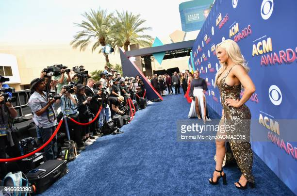 Professional wrestler Lana attends the 53rd Academy of Country Music Awards at MGM Grand Garden Arena on April 15 2018 in Las Vegas Nevada