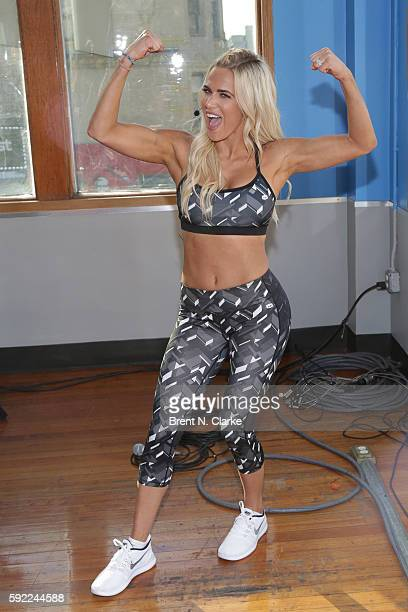 Professional wrestler Lana attends the Tapout Fitness WWE special event held at Tapout Fitness on August 19 2016 in New York City