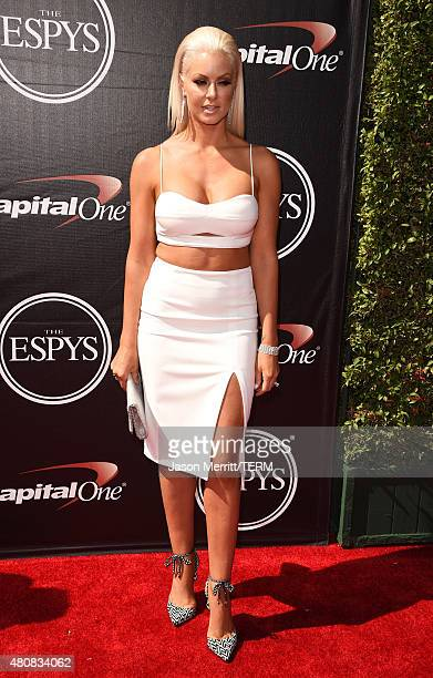 Professional wrestler Maryse Ouellet attends The 2015 ESPYS at Microsoft Theater on July 15 2015 in Los Angeles California