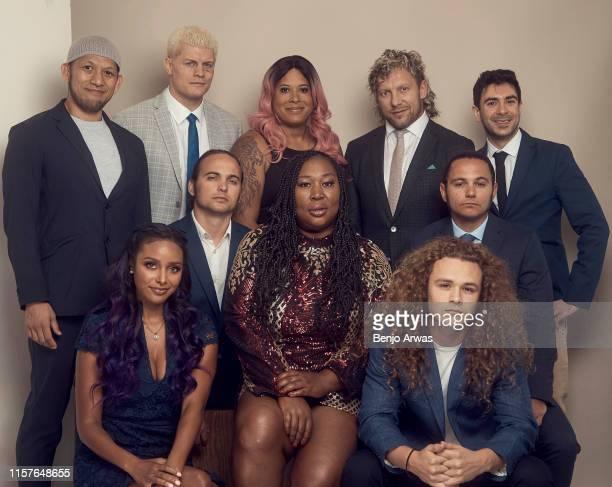 Professional wrestler Michael Nakazawa All Elite Wrestling EVP Cody Rhodes professional wrestlers Nyla Rose and Kenny Omega and All Elite Wrestling...
