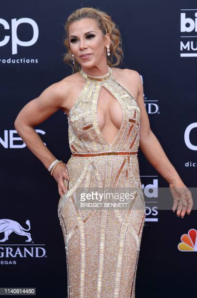 US professional wrestler Mickie James attends the 2019 Billboard Music Awards at the MGM Grand Garden Arena on May 1 in Las Vegas Nevada