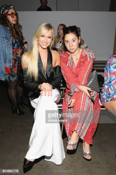 Professional wrestler model actress of WWE's Summer Rae Danielle Moinet and Annie Giben attend the Runa Ray fashion show during New York Fashion Week...