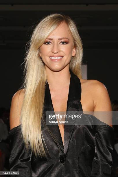 Professional wrestler model actress of WWE's Summer Rae Danielle Moinet attends the Runa Ray fashion show during New York Fashion Week First Stage at...