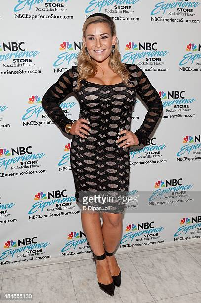 Professional wrestler Natalya attends the Total Divas fan meet and greet at the NBC Experience Store on September 3 2014 in New York City