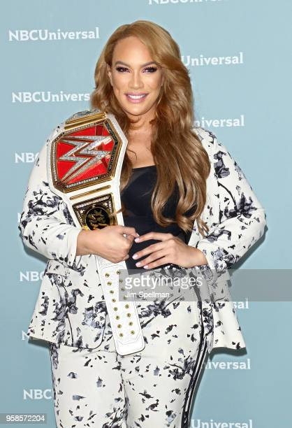 Professional wrestler Nia Jax attends the 2018 NBCUniversal Upfront presentation at Rockefeller Center on May 14 2018 in New York City