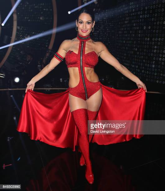 Professional wrestler Nikki Bella attends Dancing with the Stars season 25 at CBS Televison City on September 18 2017 in Los Angeles California