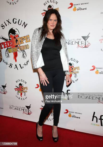 Professional Wrestler Patricia Summerland Chambers attends the arrivals for the live performance of the Rock Band Six Gun Sal at Boardners Restaurant...