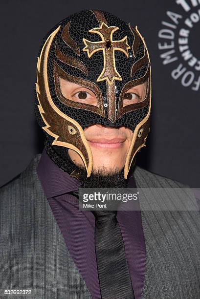 Professional wrestler Rey Mysterio attends the 2016 Paley Center for Media's Tribute To Hispanic Achievements In Television at Cipriani Wall Street...