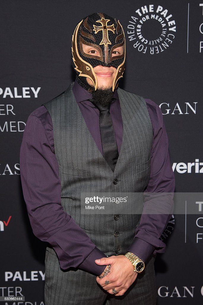 Professional wrestler Rey Mysterio attends the 2016 Paley Center for Media's Tribute To Hispanic Achievements In Television at Cipriani Wall Street on May 18, 2016 in New York, New York.