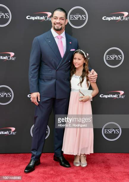 Professional wrestler Roman Reigns attends The 2018 ESPYS at Microsoft Theater on July 18 2018 in Los Angeles California