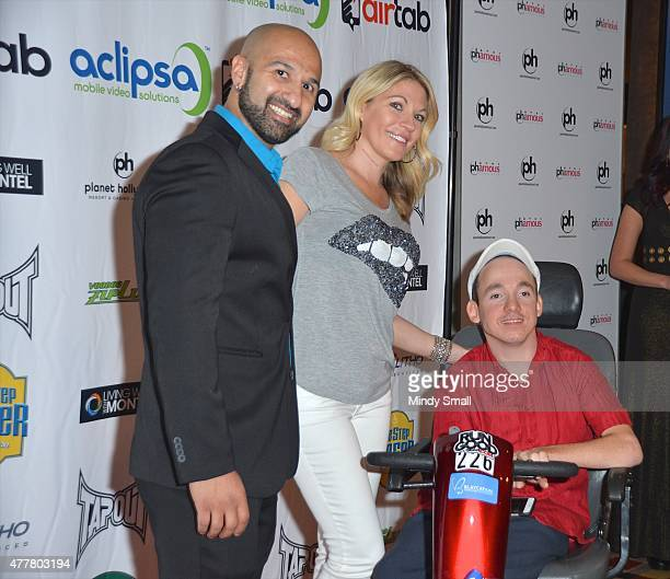 Professional wrestler Shawn Daivari professional wrestling personality Alicia Webb and President CEO of One Step Closer Foundation Jacob Zalewski...