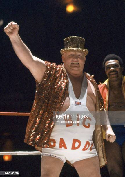 Professional wrestler Shirley Crabtree of Great Britain, known as Big Daddy, circa 1975. His 64 inch chest earned him a place in the Guinness Book of...