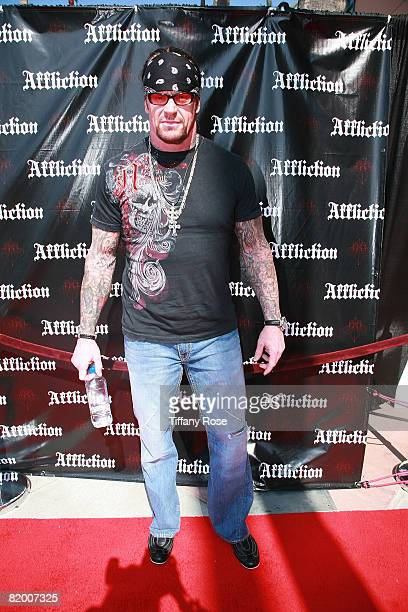 Professional wrestler The Undertaker attends the Affliction Banned at the Honda Center on July 19 2008 in Anaheim California