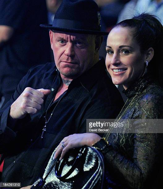 Professional Wrestler The Undertaker Attends Bradley Vs Marquez Fight Cosponsored By Wynn Las Vegas