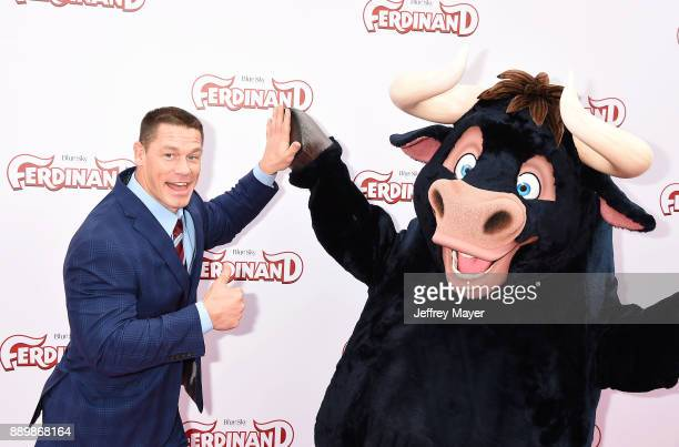 Professional wrestler/actor John Cena arrives at a screening of 20th Century Fox's 'Ferdinand' at the Zanuck Theater at 20th Century Fox Lot on...