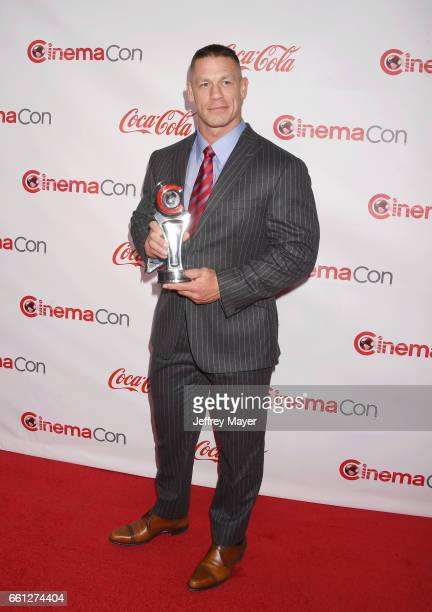 Professional wrestler/actor John Cena attends the CinemaCon Big Screen Achievement Awards at Omnia Nightclub at Caesars Palace during CinemaCon, the...