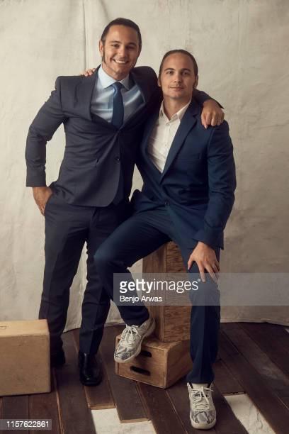 Professional wrestlers Matt Jackson and Nick Jackson of TNT's 'All Elite Wrestling' poses for a portrait during the 2019 Summer TCA Portrait Studio...