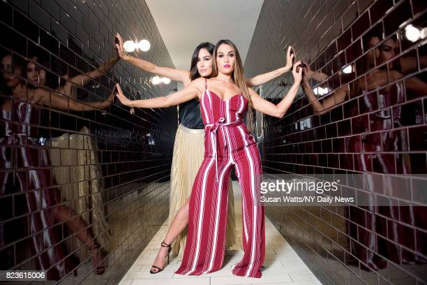 Professional wrestlers the Bella Twins Nikki and Brie are photographed for the NY Daily News on September 30 in New York City
