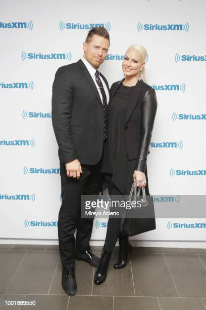 Professional wrestlers The Miz and Maryse Ouellet visit SiriusXM Studios on July 19 2018 in New York City