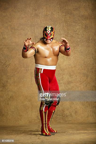 Professional Wrestling CMLL Lucha Libre Portrait of Ultimo Guerrero at Arena Mexico Mexico City Mexico 3/21/2007