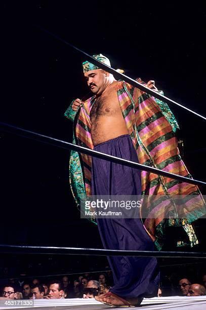 Kubla Khan entering ring before match vs Mike DeBiasie at Hollywood Legion Stadium Los Angeles CA CREDIT Mark Kauffman