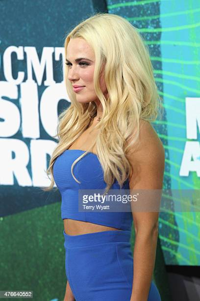 Professional wrestling manager CJ Perry Lana attends the 2015 CMT Music awards at the Bridgestone Arena on June 10 2015 in Nashville Tennessee