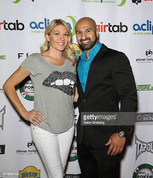 Professional wrestling personality Alicia Webb and professional wrestler Dara Daivari attend the Raising the Stakes for Cerebral Palsy Celebrity...